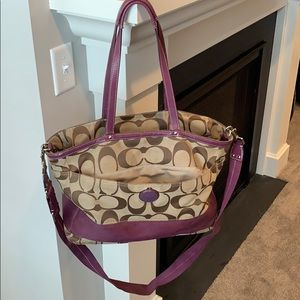 Coach Purple Diaper Bag